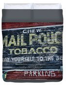 Chew Mail Pouch Tobacco Ad Duvet Cover