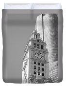 Chicago Clocktower Duvet Cover