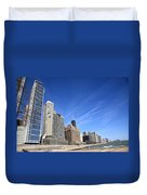 Chicago Skyline And Beach Duvet Cover