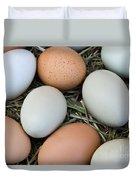 Chicken Eggs Duvet Cover