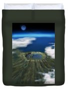 Chicxulub Crater, Illustration Duvet Cover