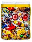 Childhood Toys Duvet Cover