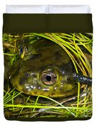 Chilean Widemouth Frog Duvet Cover