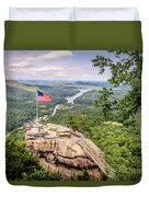Chimney Rock State Park Duvet Cover