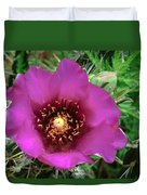 Cholla Cactus Flower Duvet Cover