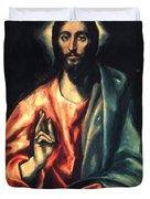 Christ As Saviour Duvet Cover