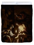 Christ Crowned With Thorns Duvet Cover