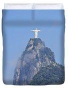 Christ The Redeemer, Rio De Janeiro Duvet Cover