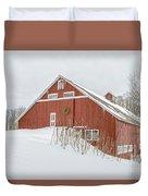 Christmas Barn Duvet Cover