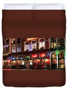 Christmas Decorations On The Buildings, Bruges City Duvet Cover