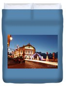 Christmas In Ribeira Grande Duvet Cover