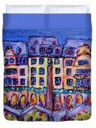 Christmas Market In Mainz Duvet Cover