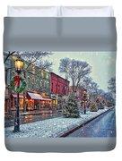 Christmas On Main Street Duvet Cover
