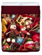 Christmas Ornaments Duvet Cover