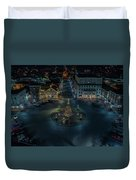 Christmas Lights, Looking North Duvet Cover