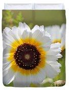 Chrysanthemum Named Polar Star Duvet Cover
