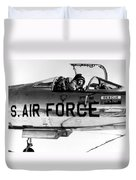 Chuck Yeager, Usaf Officer And Test Duvet Cover
