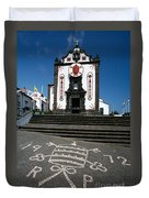 Church In The Azores Duvet Cover