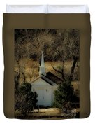 Church In The Garden Duvet Cover