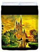 Cinderella Castle - Van Gogh Style Duvet Cover