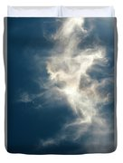 Cirrus Clouds With Nature Patterns  Duvet Cover
