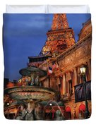 City - Vegas - Paris - Academie Nationale - Panorama Duvet Cover