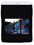 City As A Painting Duvet Cover