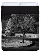 City Beach In Infrared Duvet Cover