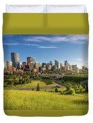 City Skyline Of Calgary, Canada Duvet Cover