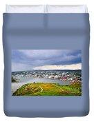 Cityscape Of Saint John's From Signal Hill Duvet Cover