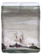 Civil War: Naval Battle Duvet Cover
