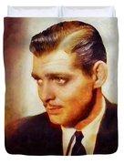 Clark Gable, Vintage Hollywood Actor Duvet Cover