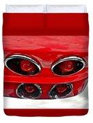 Classic Car Tail Lights Duvet Cover