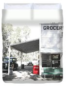Classic Chevrolet Automobile Parked Outside The Store Duvet Cover by Mal Bray