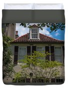 Clay Tile Roof Duvet Cover