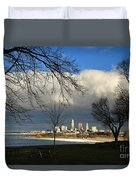 Cleveland Winter Dawn Duvet Cover