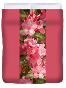 Close-up Of Pink Flowers In Bloom Duvet Cover