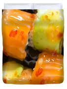 Close Up Sushi In Plate Duvet Cover