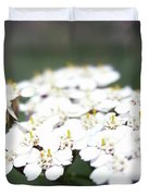 Close-ups Of A White Meadow Flower Duvet Cover