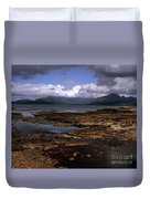 Cloud Passing Across The Cuillin Main Ridge And Bla Bheinn From Tokavaig Sleat Isle Of Skye Scotland Duvet Cover