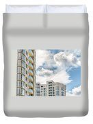 Clouds And Buildings Duvet Cover