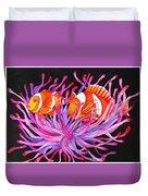 Clownfish And Sea Anenome  Duvet Cover