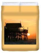 Cocoa Beach Pier/sunrise Duvet Cover