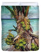 Coconuts On Beach Duvet Cover