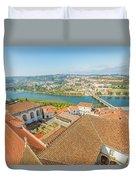 Coimbra Aerial View Duvet Cover