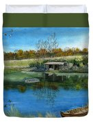 Cole Hill Pond Duvet Cover