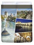 Collage Of Cordoba  Duvet Cover