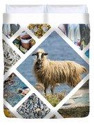 Collage Of Crete  Duvet Cover