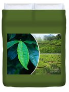 Collage Of  Tea Plantations In Munnar  Duvet Cover