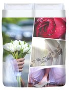 Collage Of Wedding Time Sensational Duvet Cover